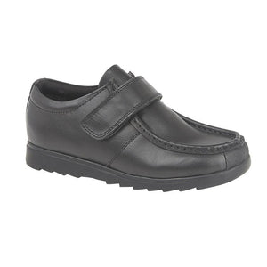 Roamers Black Leather (Boys) Shoe - Schoolwear Centres | School Uniform Centres