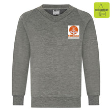 Millhouse Primary - Mid Grey V-Neck Sweatshirt Jumper with School Logo