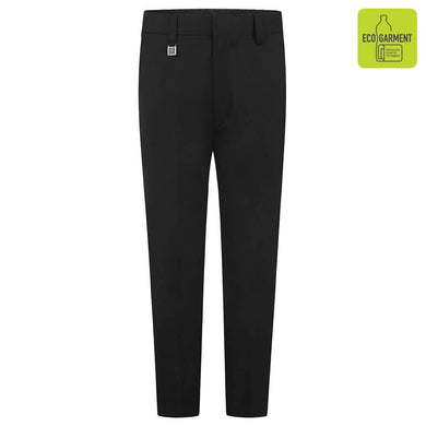 Boys - Slim Fit Trousers | Black | Navy | Grey | Charcoal | Brown Black / 16-17YRS School Uniform Centres Trousers school-uniform-centres.myshopify.com Schoolwear Centres