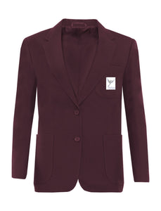 MAROON GIRLS BLAZER WITH SCHOOL LOGO