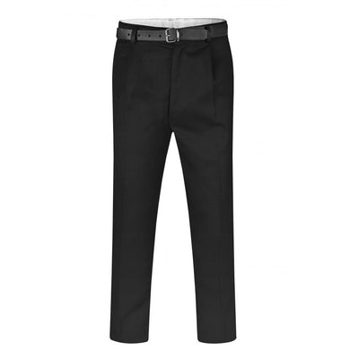 Senior Boys Regular Fit Trousers | Black | Navy | Grey Black / W40/L33 Schoolwear Centres Slim Fit Trousers school-uniform-centres.myshopify.com Schoolwear Centres
