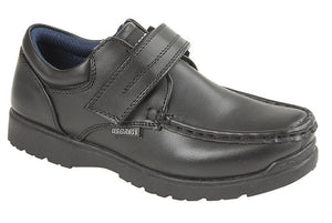 US BRASS (C657A) 'TED' Black PU Shoe - Schoolwear Centres | School Uniform Centres