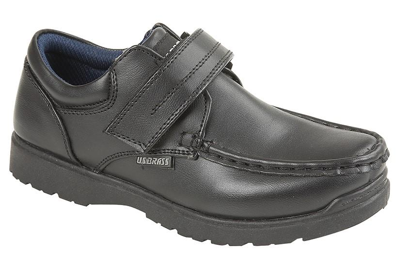 US BRASS (C657A) 'TED' Black PU Shoe Black / 13 Schoolwear Centres Shoes school-uniform-centres.myshopify.com Schoolwear Centres