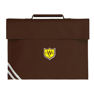 The Wickford Infant School - Brown Bookbags with School Logo BROWN / Classic Bookbag School Uniform Centres BOOK BAGS school-uniform-centres.myshopify.com Schoolwear Centres