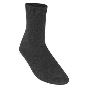 Smooth Knit Ankle Socks (BS3194) Charcoal / 7/11 Schoolwear Centres Ankle Socks school-uniform-centres.myshopify.com Schoolwear Centres