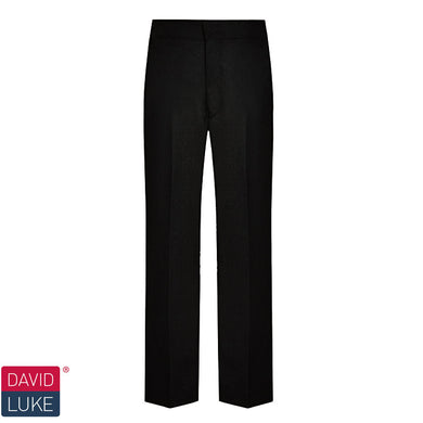 Slim Fit Junior Trouser, Flat Front, Elastic Back |Black | Charcoal | Grey Black / 34/30 Schoolwear Centres Trousers school-uniform-centres.myshopify.com Schoolwear Centres