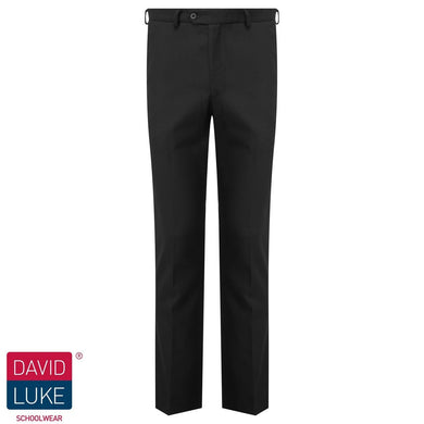Boys Slim-Fit Flat Front Senior Trouser | Black | Charcoal | Grey - Schoolwear Centres | School Uniform Centres