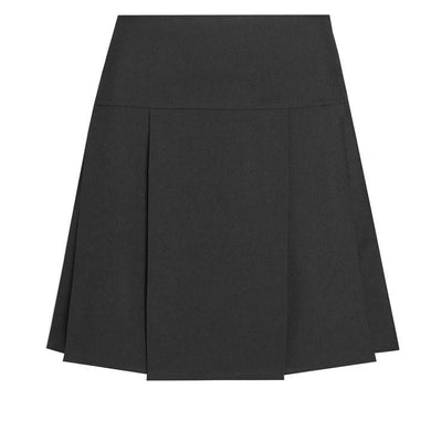 Drop Waist Pleated Skirt BLACK / 34W 24L School Uniform Centres Skirts school-uniform-centres.myshopify.com Schoolwear Centres