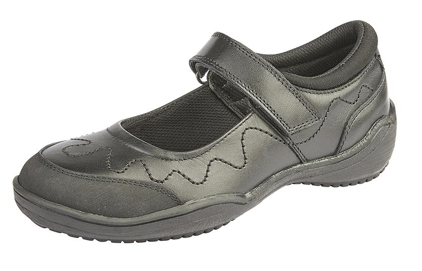 ROAMERS [KIDS G268A] Touch Fastening Bar Girls Shoe - Schoolwear Centres | School Uniform Centres
