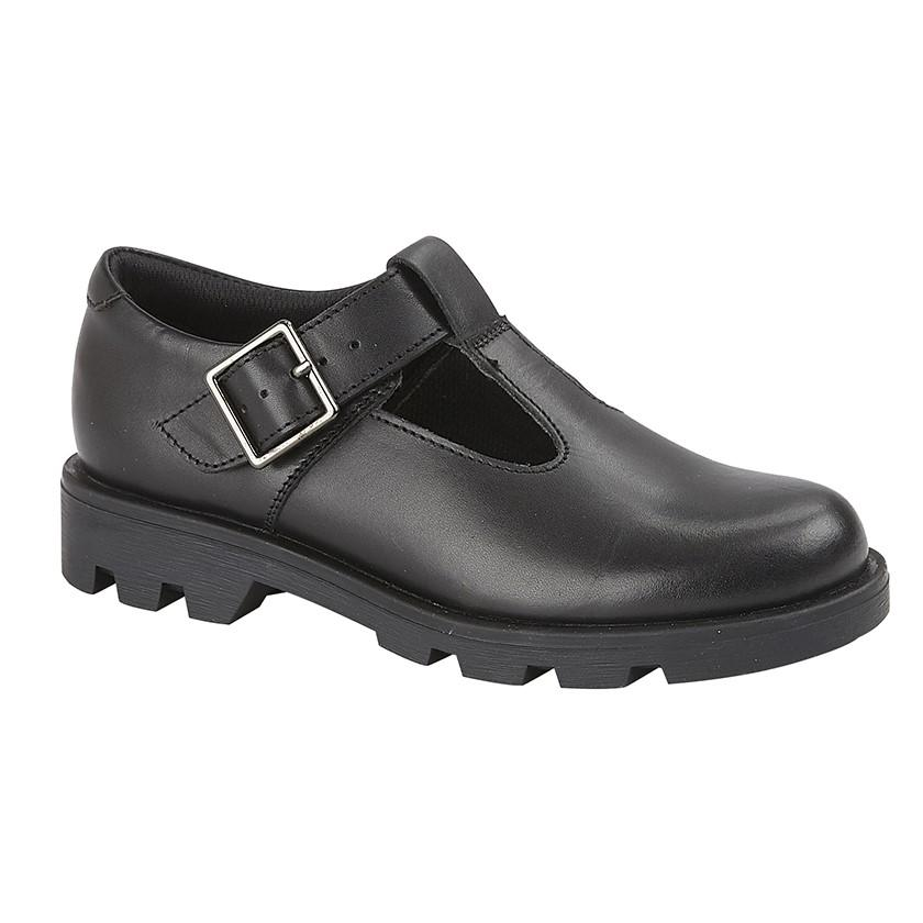 Roamers' (G705A) Black Leather School Shoe Black / 5 Schoolwear Centres Shoes school-uniform-centres.myshopify.com Schoolwear Centres