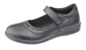 ROAMERS  [KIDS G859A]  Touch Fastening Girls Shoe Black / 4 Schoolwear Centres Shoes school-uniform-centres.myshopify.com Schoolwear Centres