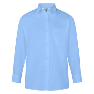"Long Sleeve Blouse | GB3100 Blue / 48"" School Uniform Centres Blouses school-uniform-centres.myshopify.com Schoolwear Centres"