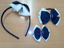 Hairband, Hairclips & Bobble HAIRBAND / NAVY/WHITE School Uniform Centres Accessories school-uniform-centres.myshopify.com Schoolwear Centres
