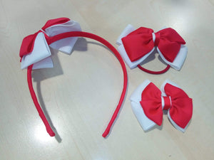Hairband, Hairclips & Bobble HAIRBAND / RED/WHITE School Uniform Centres Accessories school-uniform-centres.myshopify.com Schoolwear Centres