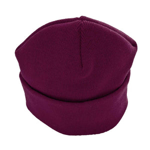 Knitted Ski (Beanie) Hats | Red | Purple | Gold | Brown | Royal | Brown | Bottle | Black | Navy | Grey Maroon / ONE SIZE Schoolwear Centres Hat school-uniform-centres.myshopify.com Schoolwear Centres