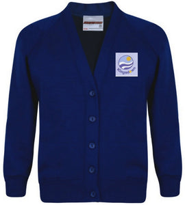 Kingsdown School - Royal Sweatshirt Cardigan with School Logo | School Uniform Centres