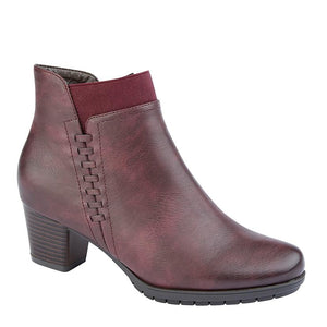 CIPRIATA ALESIA' Side Zip Ankle Boot Burgundy / 8 Schoolwear Centres Shoes school-uniform-centres.myshopify.com Schoolwear Centres