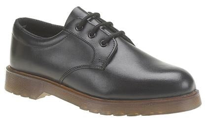 Grafters (M162A) Black Smooth Leather Shoe - Schoolwear Centres | School Uniform Centres