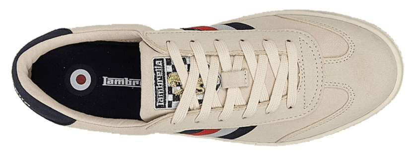 LAMBRETTA (M663) 6 Eye Casual Mens Shoe Ecru Canvas / 12 Schoolwear Centres Shoes school-uniform-centres.myshopify.com Schoolwear Centres