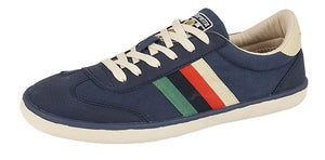 LAMBRETTA (M663) 6 Eye Casual Mens Shoe Navy Canvas / 12 Schoolwear Centres Shoes school-uniform-centres.myshopify.com Schoolwear Centres