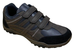 ROUTE 21 (M791B) 3 Touch Fastening Mens Casual Dark Brown / 12 Schoolwear Centres Shoes school-uniform-centres.myshopify.com Schoolwear Centres