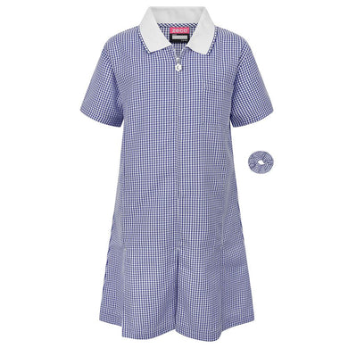 "Gingham Summer Dress & Gingham Sun Hat 40"" / Navy School Uniform Centres Dress school-uniform-centres.myshopify.com Schoolwear Centres"