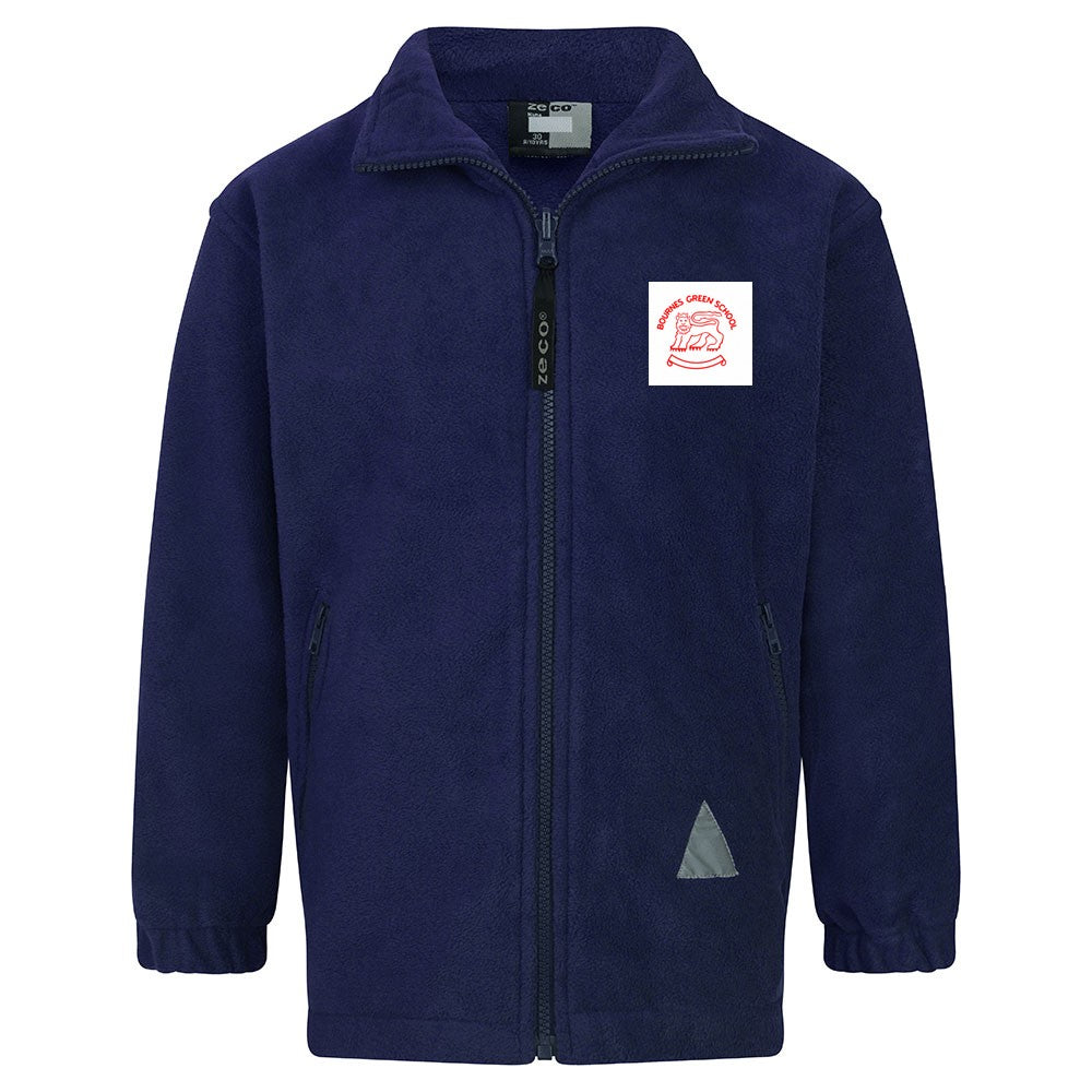 Bournes Green School - Navy Fleece Jacket with School Logo - Schoolwear Centres | School Uniform Centres