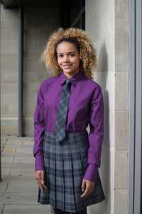 Senior Stitch Down Pleat Tartan Skirt  Schoolwear Centres Skirts school-uniform-centres.myshopify.com Schoolwear Centres