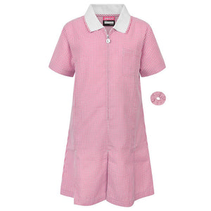 "Gingham Summer Dress & Gingham Sun Hat 40"" / Pink School Uniform Centres Dress school-uniform-centres.myshopify.com Schoolwear Centres"