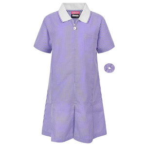 "Gingham Summer Dress & Gingham Sun Hat 40"" / Purple School Uniform Centres Dress school-uniform-centres.myshopify.com Schoolwear Centres"