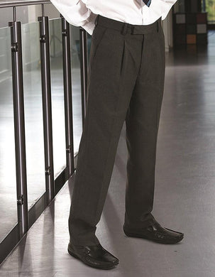 Putney Junior Pleat Trouser | Black | Charcoal | Grey | Navy