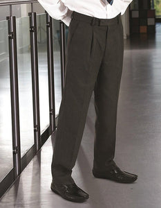 Putney Junior Pleat Trouser | Black | Charcoal | Grey | Navy - Schoolwear Centres | School Uniform Centres