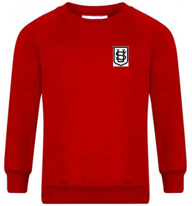 Saint Ursula's Catholic Infant School - Red Sweatshirt for Nursery with School Logo - Schoolwear Centres | School Uniform Centres