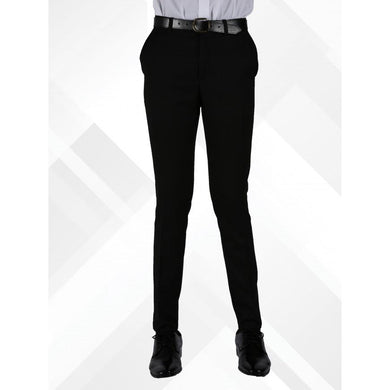 Senior Boys Skinny Fit Trousers | Black
