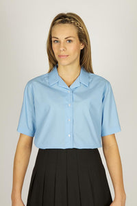 Single Pack - Short Sleeve Revere Blouses - Schoolwear Centres | School Uniform Centres