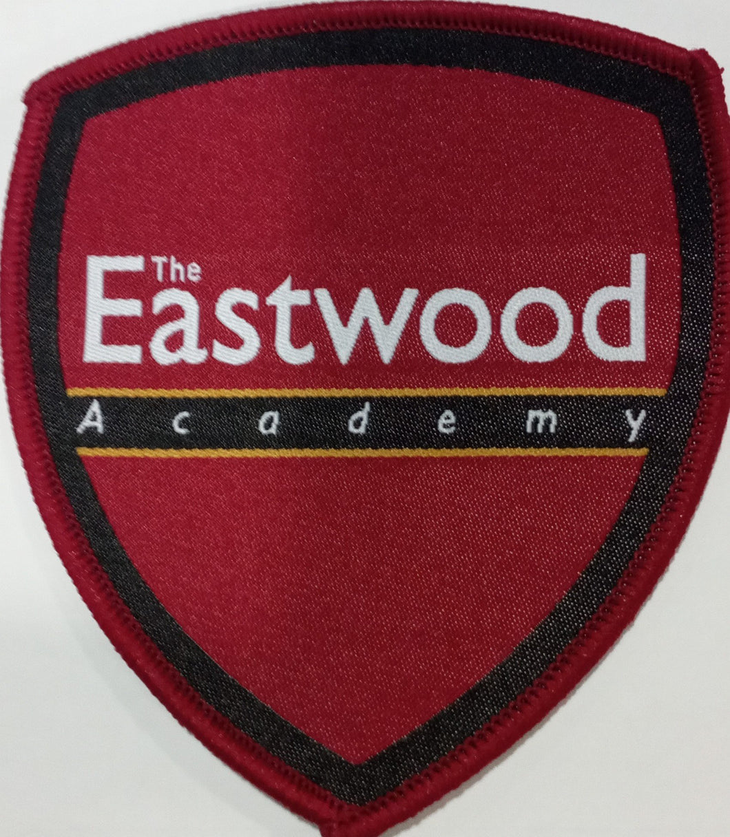 The Eastwood Academy - Sew-on-School Badge RED /YELLOW / ANY School Uniform Centres Accessories school-uniform-centres.myshopify.com Schoolwear Centres