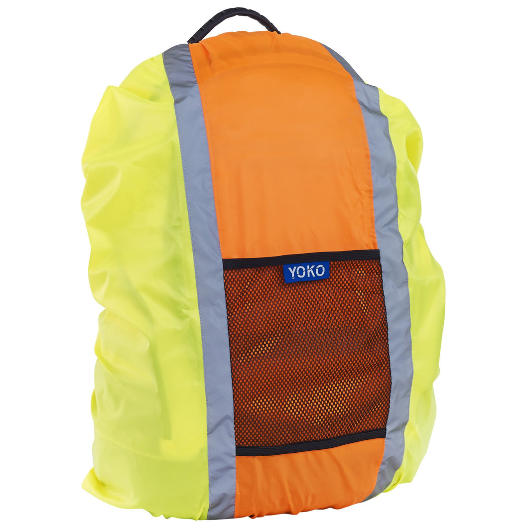 Hi-vis rucksack cover Yellow / Orange / One Size School Uniform Centres Hodall school-uniform-centres.myshopify.com Schoolwear Centres
