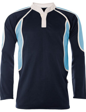 Chase High School - Pro-Tec Rugby Top Navy/Sky - Schoolwear Centres | School Uniform Centres