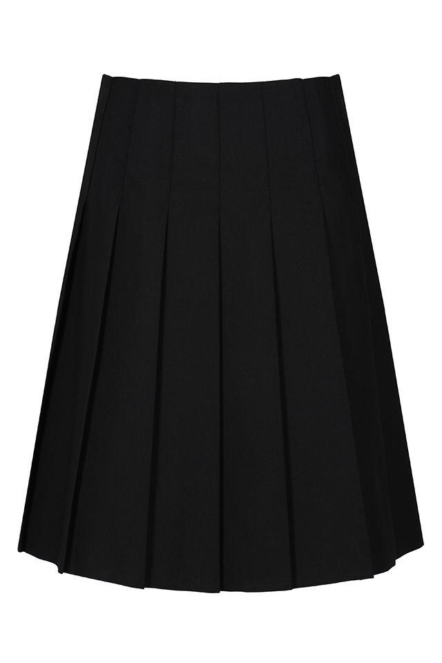 Trutex Senior Stitch Down Pleat Skirt Black / 34/24 (16 Yrs+) Schoolwear Centres Skirts school-uniform-centres.myshopify.com Schoolwear Centres