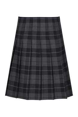Hassenbrook Academy - Girl's Stitch Down Pleat Tartan Skirt Castle Grey / 34/24 (16 Yrs+) Schoolwear Centres Skirts school-uniform-centres.myshopify.com Schoolwear Centres