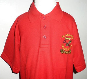 St Anne Line Catholic Juniors School - Red Polo Shirt with School Logo | School Uniform Centres