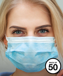 Disposable 3-ply type IIR medical mask Blue / Pack of 50 Schoolwear Centres Covid-19 school-uniform-centres.myshopify.com Schoolwear Centres