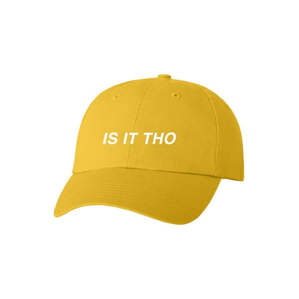 EMBROIDERED IS IT THO YELLOW CAP