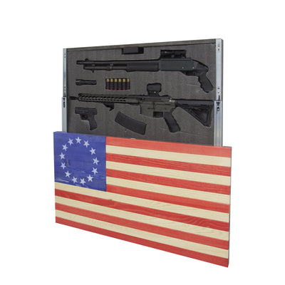 American Flag - Betsy Ross Concealment Cabinet