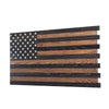 Dual Compartment Gun Concealment American Flag *Dark Rustic brown