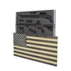 American Flag Concealment Cabinet - Black and White