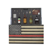 American Flag Concealment Cabinet - Red Line