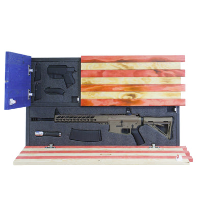 Dual Compartment Gun Concealment American Flag *Torched Red White Blue