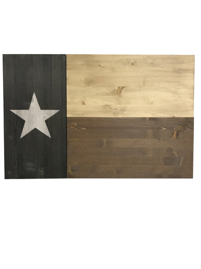 Dual Compartment Gun Concealment Texas Flag *Dark Rustic