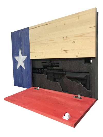 Dual Compartment Gun Concealment Texas Flag